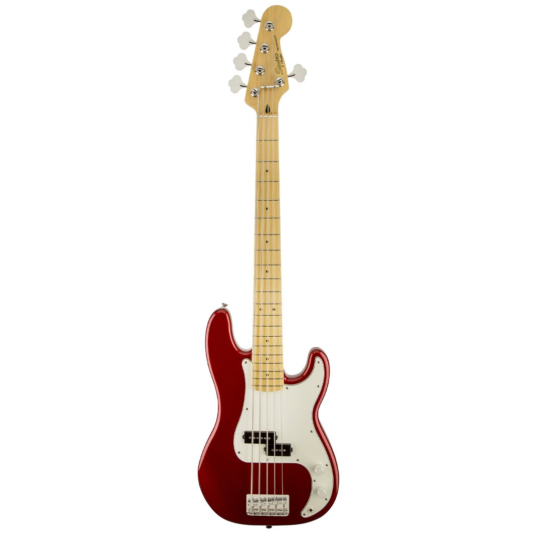 Squier Vintage Modified 5-String Precision Bass Guitar, Candy Ap