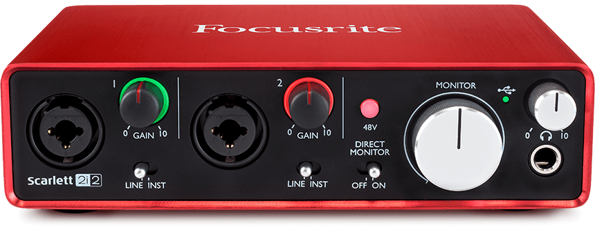 Focusrite Scarlett 2i2 (2nd Gen) 2in/2out USB Audio Interface